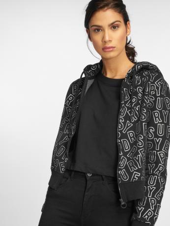 superdry-frauen-zip-hoodie-ace-metallic-in-schwarz