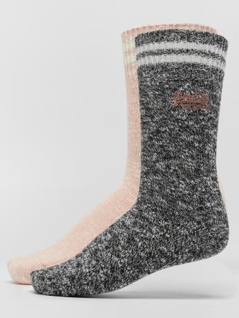 Superdry Frauen Socken Sporty Marl Double Pack in schwarz