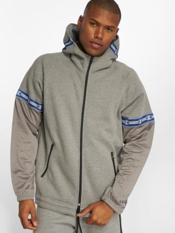 champion-athletics-manner-zip-hoodie-athleisure-in-grau