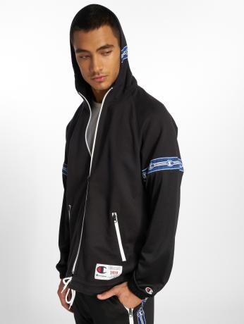 champion-athletics-manner-zip-hoodie-athleisure-in-schwarz