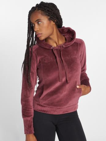 champion-athletics-frauen-hoody-lounge-mode-in-rot