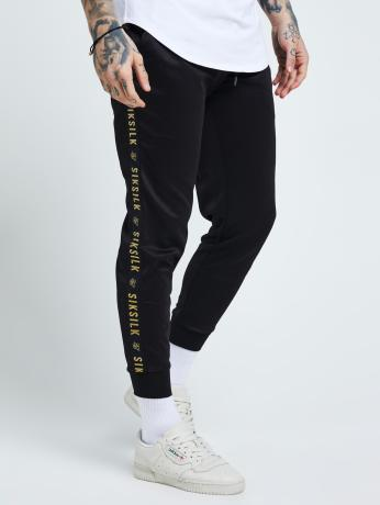 sik-silk-manner-jogginghose-cuffed-tape-in-schwarz