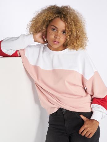 only-frauen-pullover-onlgigi-color-block-in-rosa