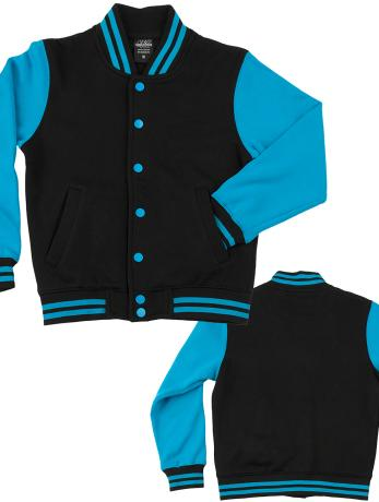 urban-classics-kinder-college-jacke-kids-2-tone-in-schwarz