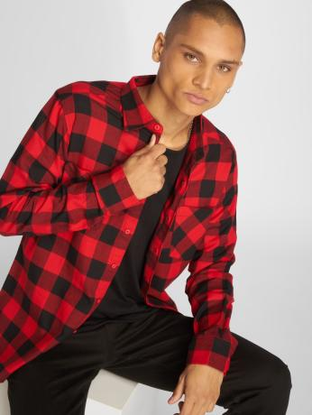 urban-classics-manner-hemd-checked-flanell-in-rot