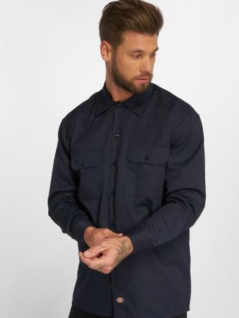 dickies-manner-hemd-longsleeve-work-in-blau