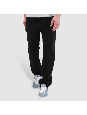 Jeans Coupe Loose Fit Pelle Pelle noir