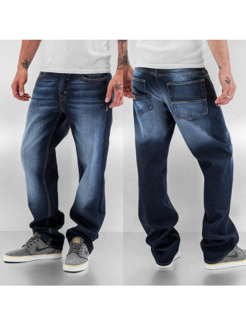 Jeans Coupe Loose Fit Pelle Pelle bleu