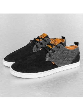 Djinns Skin And Canvas Low Lau Sneakers Black
