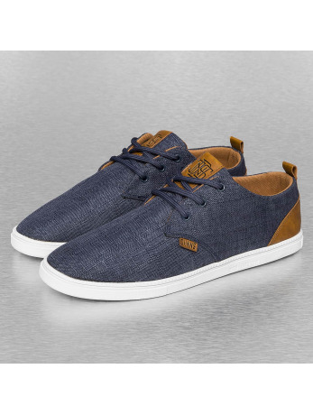 Djinns Buckle Linen Low Lau Sneakers Navy