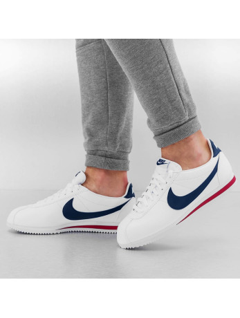 Nike Classic Cortez Leather Sneakers White/Midnight Navy/Gym Red