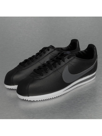 Nike Classic Cortez Leather Sneakers Black/Dark Grey/White
