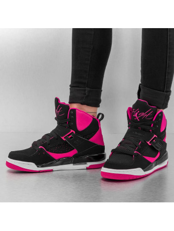 Jordan Flight 45 High IP Baskeball Shoes Black/Vivid Pink/White