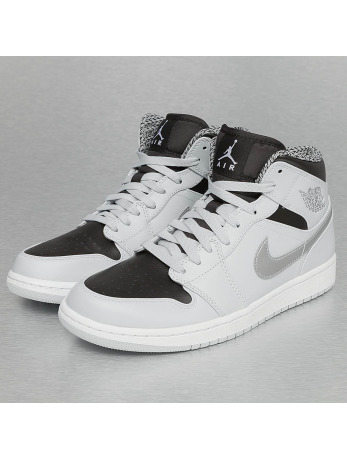 Jordan 1 Mid Sneakers Pure Platinum/White/Metallic Grey