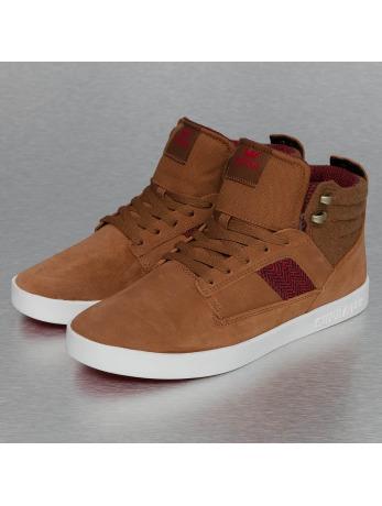 Supra Bandit Sneakers Brown/Red/Herringbone/Gum