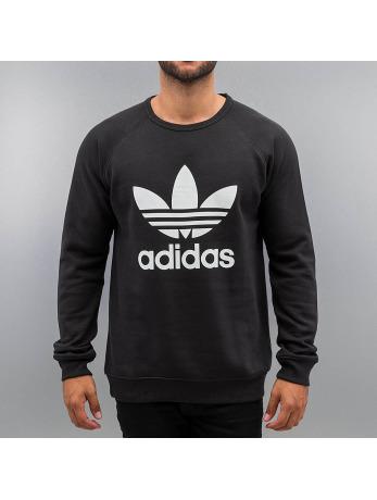 adidas Trefoil Fleece Crew Sweatshirt Black