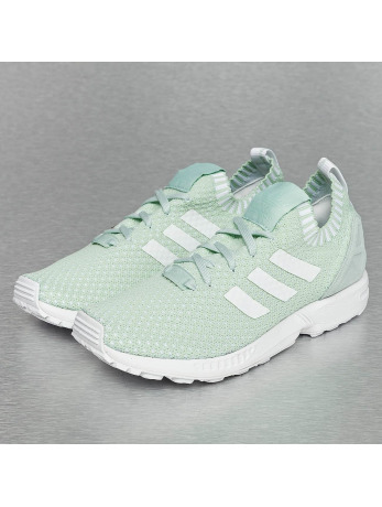 Adidas ZX Flux Primeknit Sneakers Vapour Green-Footwear White