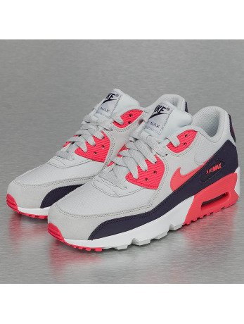 Nike Air Max 90 Mesh (GS) Sneakers Pure Platinum/Ember Glow/Purple Dynasty