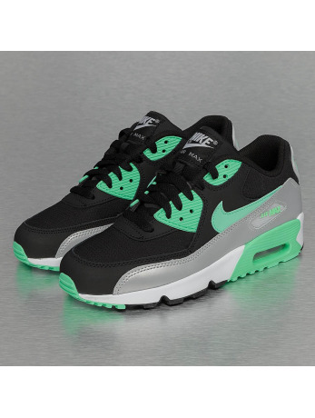 Nike Air Max 90 Mesh (GS) Sneakers Black/Green Glow/Metallic Platinum
