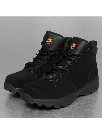 Nike Manoa Leather Boots Black/Black/Total Orange