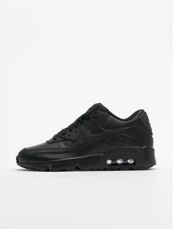 nike-frauen-kinder-sneaker-air-max-90-leather-gs-in-schwarz