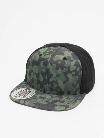 dangerous-dngrs-manner-frauen-snapback-cap-camo-in-schwarz