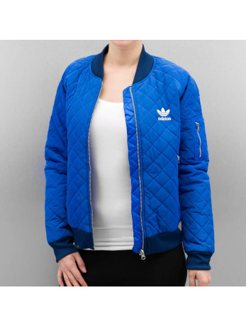 Adidas Quilted Tracktop Jacket Blue