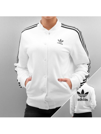 Adidas 3 Stripes Bomber Jacket White