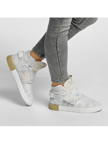 Adidas Tublular Invader Strap Sneakers Ftwr White-Ftwr White-Light Solid Grey