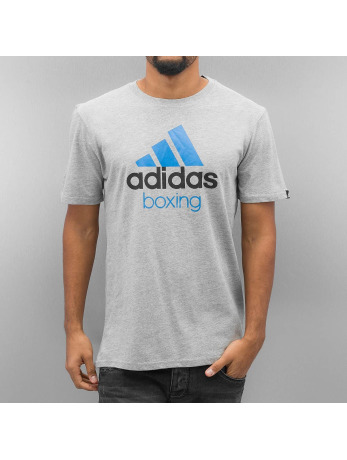 Adidas Boxing MMA Community T-Shirt Grey-Solar Blue