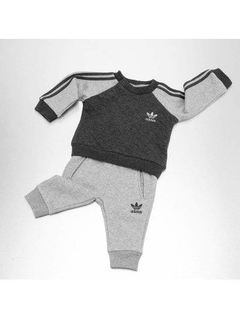 Adidas FL Quilted Sweatsuit Dark Grey Heather-Medium Grey Heather