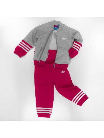 Adidas Fleece Superstar Suit Medium Grey Heather-Unity Pink