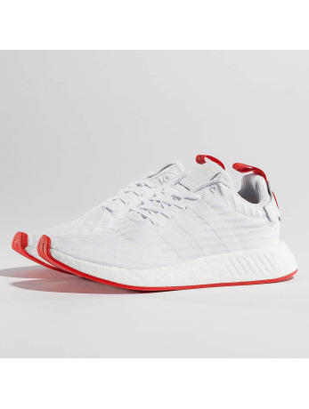 Adidas NMD R2 Primeknit Sneakers Ftwr White-Ftwr White-Core Red