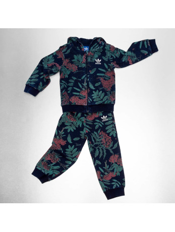 Adidas Denim Flower Sweatsuit Multicolor-Collegiate Navy