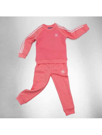 Adidas Quilted Fleece Sweat Suit Ray Pink