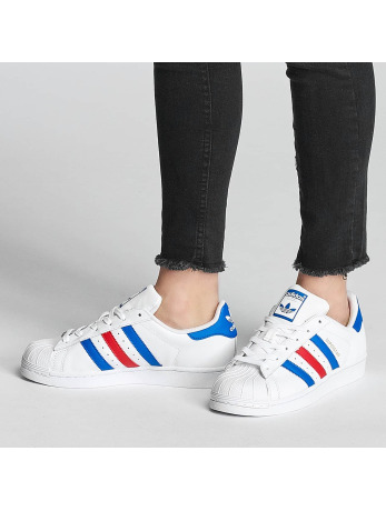 Adidas Superstar J Sneakers Ftwr White-Blue-Red