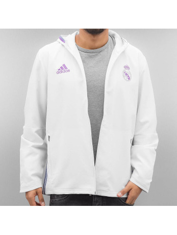 Adidas Real Madrid Prematch Jacket Crystal White-Super Purple