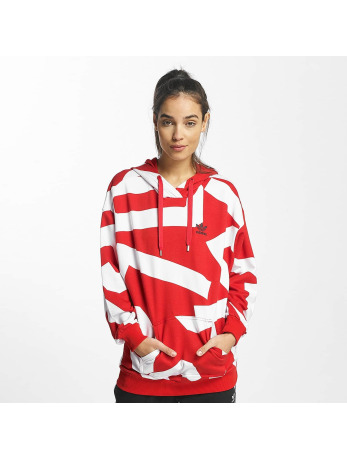 adidas-Hoody Oversized in rood