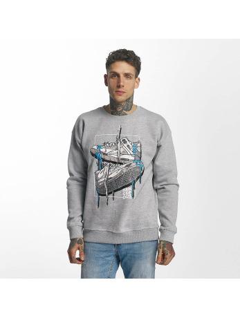 Dangerous DNGRS Männer Sport-Pullover Used in grau