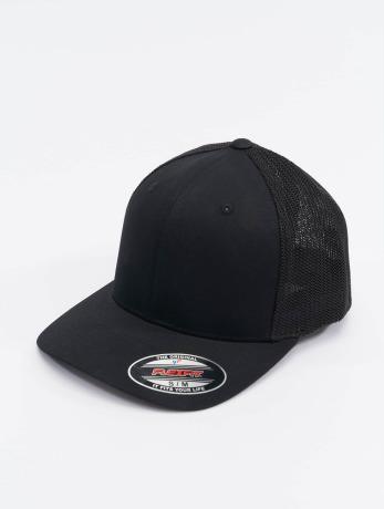 flexfit-manner-frauen-flexfitted-cap-mesh-cotton-twill-in-schwarz