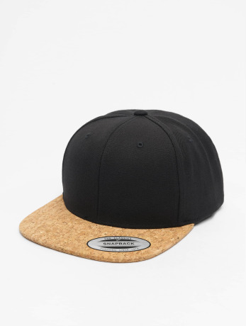 flexfit-manner-frauen-snapback-cap-cork-in-schwarz