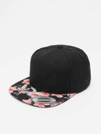 flexfit-manner-frauen-snapback-cap-floral-in-schwarz