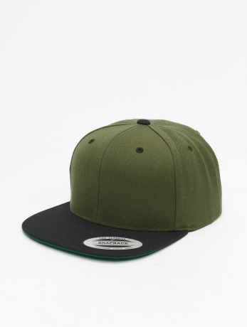 flexfit-manner-frauen-snapback-cap-classic-two-tone-in-olive