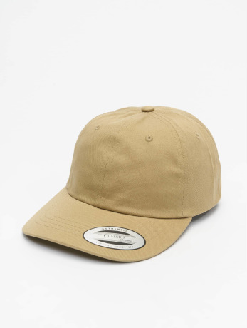 flexfit-manner-frauen-snapback-cap-low-profile-cotton-twill-in-khaki