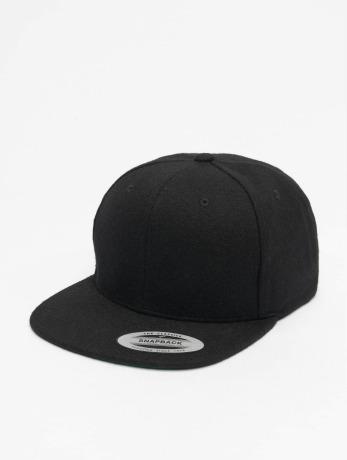 flexfit-manner-frauen-snapback-cap-melton-wool-in-schwarz