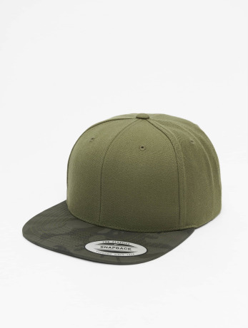 flexfit-manner-frauen-snapback-cap-camo-visor-in-olive