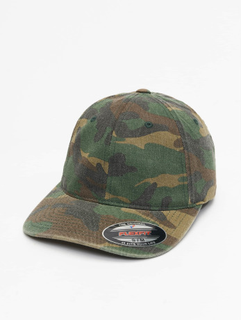 flexfit-manner-frauen-flexfitted-cap-garment-washed-camo-in-grun