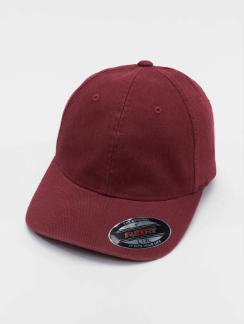 flexfit-manner-frauen-flexfitted-cap-garment-washed-cotton-dat-in-rot