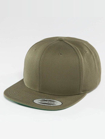 flexfit-manner-frauen-kinder-snapback-cap-classic-in-olive