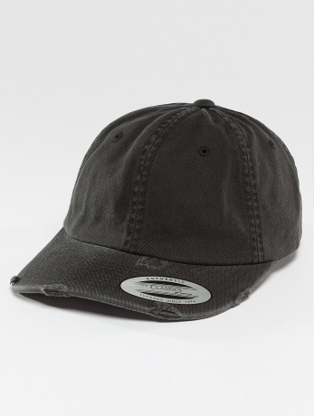 flexfit-manner-frauen-snapback-cap-low-profile-destroyed-in-schwarz